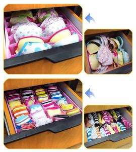 Хранения белья в коробочках