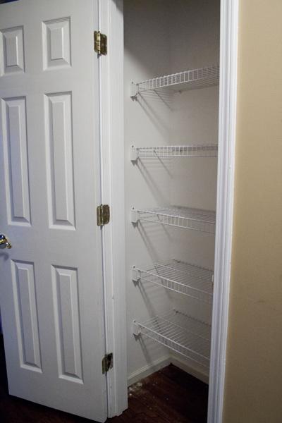 Организация бельевого шкафа - пустой шкаф