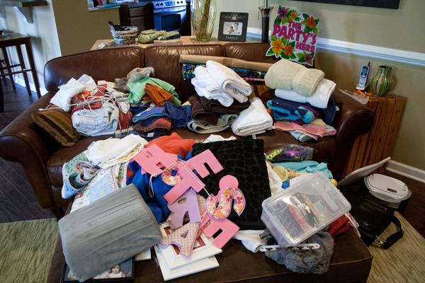 Организация бельевого шкафа - вытащить все вещи