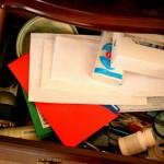 Организация ящика в тумбочке (фото до и после)