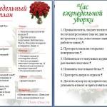 Электронный контрольный журнал Флай Леди в Ворде (Word)